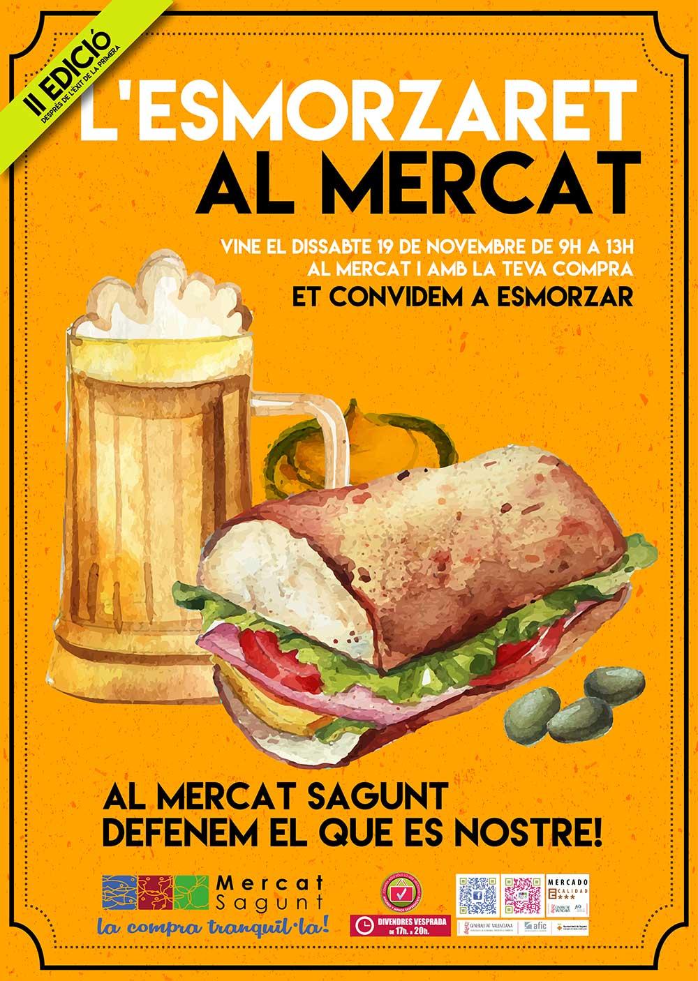 II Edició de L'Esmorzaret al Mercat Sagunt (este sábado 19 por la mañana)