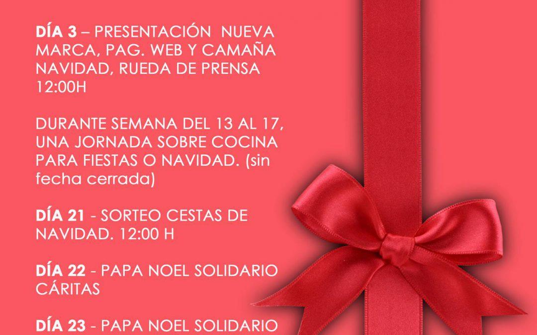 Banner calendario eventos mes diciembre