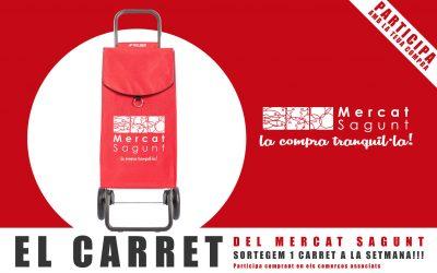Guanya el carret del Mercat Sagunt + 50€ per a omplir-lo. Sortegem un a la setmana!